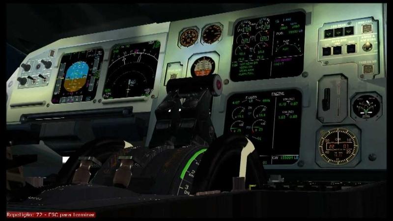 Simulação TAM 3054 com áudio da caixa preta