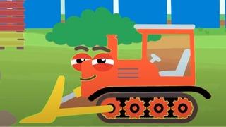 Песенки для детей - Рабочие машины - Сборник - Новые мультики для детей