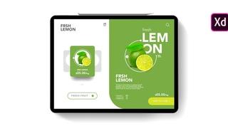 Adobe Xd Tutorial: Fresh Fruit | Shopping Apps UI Design