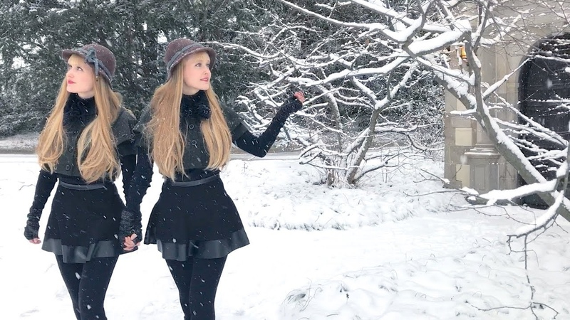 IN THE BLEAK MIDWINTER Holst Harp Twins Camille and Kennerly