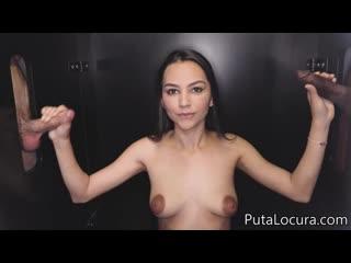 Spanish Glory Hole /  - Valerin  / Brunette, Big Tits, Blowjob, Handjob, Cumshot, Swallow, Creampie