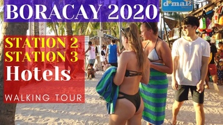 Boracay Station 3 & Station 2 Hotels / Restaurants | Boracay Island Philippines Walking Tour 2020