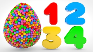 Learn Numbers with Color Balls - Numbers & Shapes Collection for Children