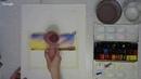 Светлана Решетова МК Закат на реке. Живопись акварелью по сырому от 26.04.2017