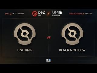 Undying vs Black N Yellow, Dota Pro Circuit 2021: S1 - NA, bo3, game 2 [Lex & 4ce]