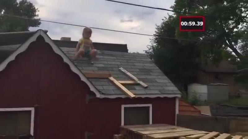 «Американский воин ниндзя» на даче! Ай да папа!