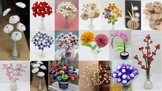 35 Flower from different materials | How to make Flower | Home Decor