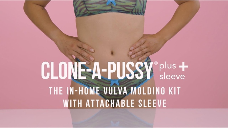 Clone-A-Pussy Plus In-Home Vulva Molding Kit With Attachable Sleeve Demo