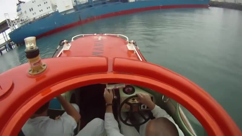 Inside freefall lifeboat when launching 17 05 2010