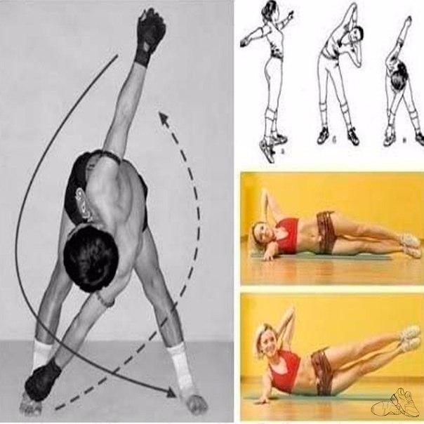 какими упражнениями убрать бока картинки вас