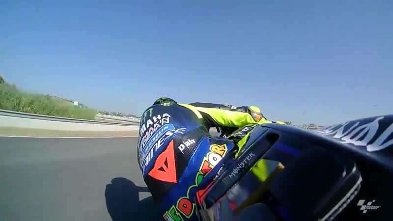 OnBoard Rossi finds his groove during FP1 in Jerez