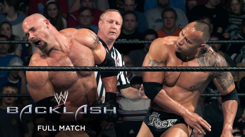FULL MATCH The Rock vs Goldberg Backlash 2003