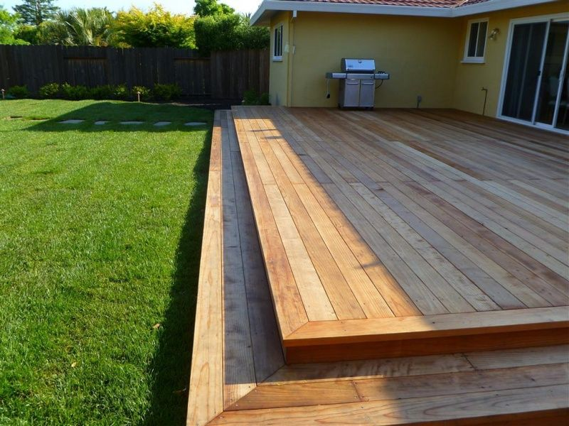 Деревянная платформа для террасы