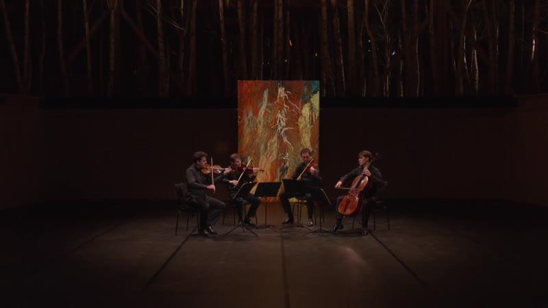 La Grange au Lac Le Quatuor Modigliani interprète Ravel et Schubert — Avec Agnès Letestu et Florent Melac (Évian, 4.07.2020)