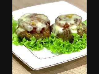 Ужин-котлеты в духовке с овощами