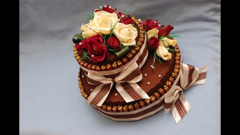 Торт из конфет своими руками. Мастер класс. DIY Cake of sweets