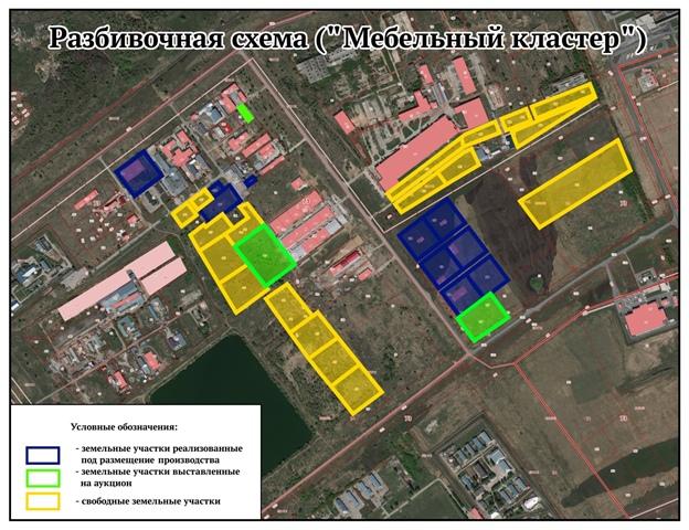 Министерством строительства и архитектуры Ульяновской области планируется создание «Мебельного кластера» в Заволжском районе, промзона «Заволжье»