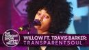 Выступление WILLOW и Travis Barker с треком «t r a n s p a r e n t s o u l» на шоу Джимми Фэллона