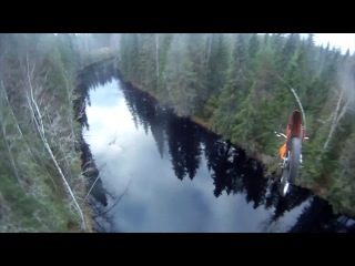 Stunt freaks team antti pendikainen 40m motocross parachute jump!