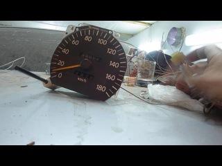 Спидометр и датчик Чайзер SX90 после свапа