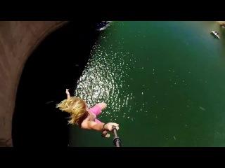Cliff slip and slide! 50 feet!