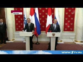 В.Путин принял в Кремле президента Швейцарии, действующего председателя ОБСЕ Дидье Буркхальтера