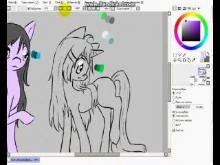 [Speed Paint] Koheku and Hibari-tyan [Pony]