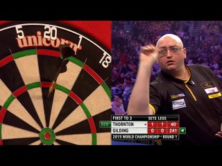 Robert Thornton vs Andrew Gilding (PDC World Darts Championship 2015 / Round 1)