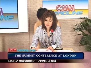 Ведущую новостей трахнули и обкончали в прямом эфире