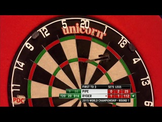 Justin Pipe vs Laurence Ryder (PDC World Darts Championship 2015 / Round 1)