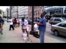 Chicago Clarinetist Kaliq Woods Jam On Michigan Avenue In Front of the CSO