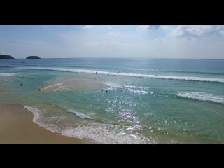 Полет над пляжем Карон, Пхукет, Таиланд