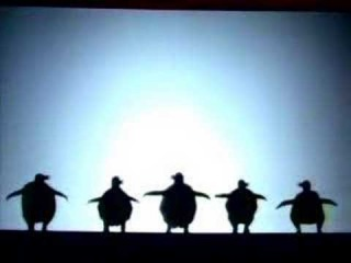 a theatrical take on shadow puppets ( Pilobolus