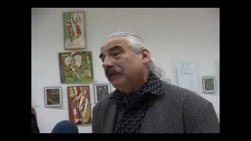 Dohotaru Vasile Expozitia personala la CEC Brancusi Tele Radio Moldova 15 12 2010