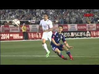 Shinji Okazaki Second Goal - Japan vs New Zealand 4-0 (Friendly Match) 2014