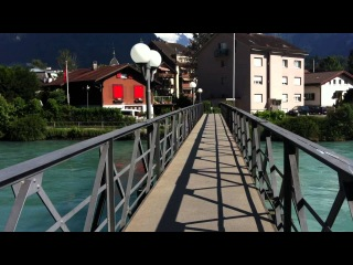 Интерлакен, Швейцария, вид с моста 07 07 2012