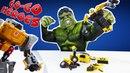 Go Go Heroes • ХАЛК играет с ТРАНСФОРМЕРАМИ Оптимус Прайм, Гримлок и Рэтчет!