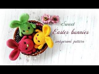 Sweet Easter Bunnies. Amigurumi pattern