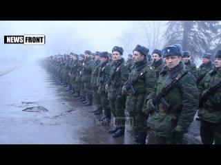 """Отряд """"Бэтмен"""" расформирован, подразделения влились в 4-ю бригаду. Вручение боевого знамени"""