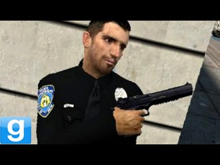 RUNNING FROM THE POLICE!! Gmod Apartment Raid Map (Garry's Mod)