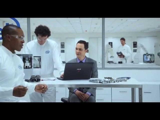 Бонусный ролик к рекламе Intel c Джимом Парсонсом озвучено по версии Кураж Бамбей