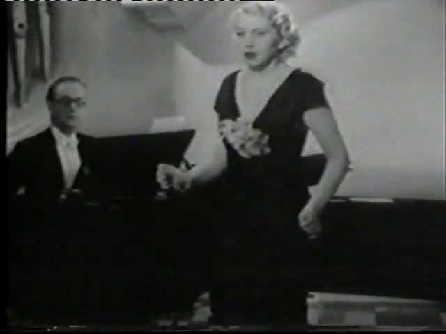 Erna Sack live sings Ein Blumenstrauß aus Nizza Filmversion in Blumen aus Nizza 1936