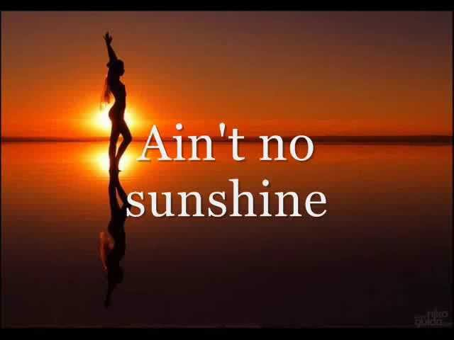 Joe Cocker Ain't no sunshine (Lyric Video)