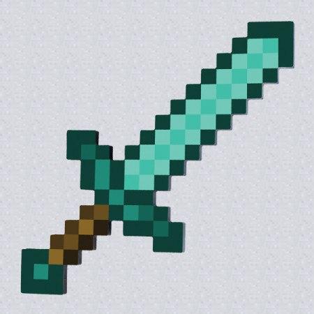 как рисовать меч из майнкрафта