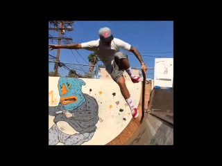 Justin Bieber finally nailing blunt fakie at Brooklyn Projects, Los Angeles California, July 30 2015