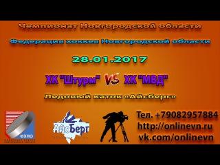ЧНО Игра ХК МВД VS ХК Штурм (15:1) Ледовый каток Айсберг