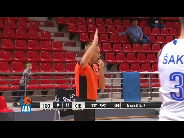ABA Liga 2016 17 Round 1 match Igokea Cibona 2 10 2016