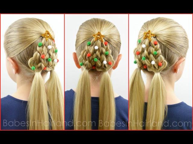 Braided Christmas Tree | Christmas Hairstyle | BabesInHairland.com