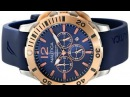 Nautica Men's NAD19506G BFD 101 Dive Style Chrono Blue Watch New Arrival