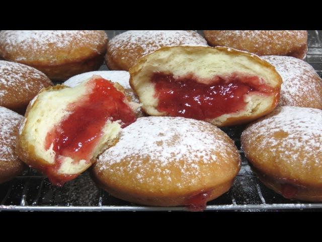 Как приготовить ПОНЧИКИ с Начинкой БЕРЛИНЕРЫ пончики Cách làm BánhRán Donuts Recipe